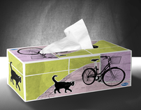 Tissue box design and case for packaging