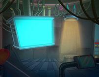 Cartoon Lab Background