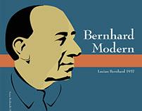 Historical Type Poster: Bernhard Modern