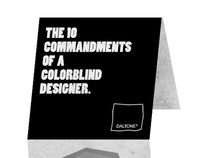The 10 Commandments of a Colorblind Designer