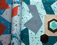 Geometric Leaves Wallpaper