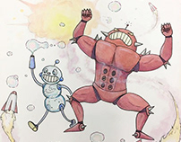 Bubble Bot Brothers, Character Design