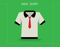 Men shirt illustrator