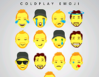 Coldplay emoji - Flat art