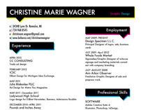 Christine Wagner - Design Resumé