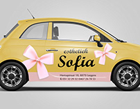 car wrap design 'esthetiek Sofia'