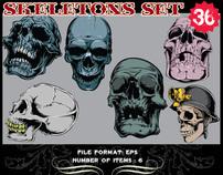 Skull themed Vector Set from Tshirt Factory