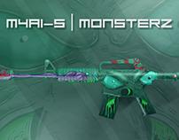 CS:GO M4A1-S MonsterZ Skin