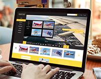 Aviation PSD web mockup