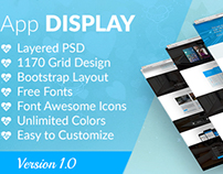 App Display - Onepage Parallax App Landing Page
