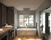 Calgary Infill Interior - En Suite and Master Bedroom