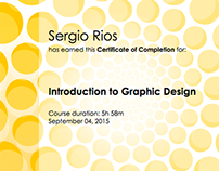 Introduction to Graphic Design Certficate of Completion