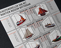 Post stamps ship models Maritime Museum Rotterdam