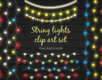 String lights clipart set