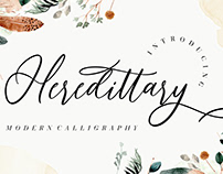 HEREDITTARY MODERN CALLIGRAPHY - FREE FONT