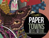 """Diseños para """"Paper Towns"""" de John Green"""