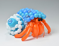 hermit crab (balloon art)