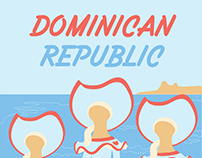 Travel Poster of the Dominican Republic