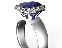 LE MAJORELLE Sapphire ring