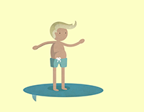 Surfer-Motion Graphic