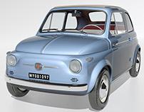 3dsMax - 1958 Fiat 500
