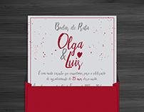 Save The Date e Convite - Olga e Luis