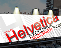 Helvetica Font Typography Poster!