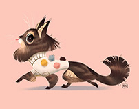 Pom Pom Pullover Cat