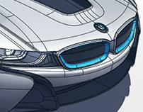 BMW I8 EXTERIORMODEL ALIAS