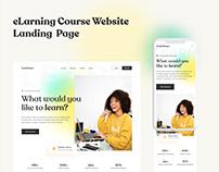 eLarning Course Website Landing Page