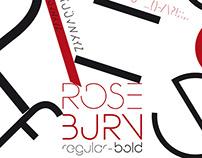 """ROSEBURN"" Typography Design"