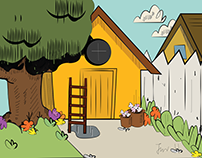 "background design based on the ""loud house"""