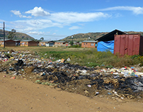 Waste disposal in Mamelodi township, South Africa