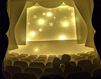 Movie Theatre 3D Shadowbox Night Light