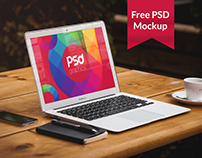Freebie: Macbook Air Mockup Free PSD Graphics