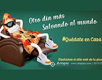 Campaña Diseño Sitio Web para Pizzerías Ariapsa México