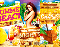 Summer Vacation Flyer Bundle vol.2, PSD Template