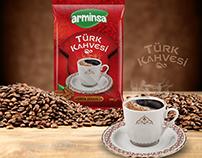 Arminsa Türk Kahvesi Ambalaj Tasarımı