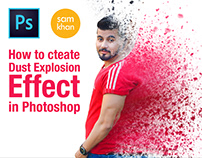 how to create Dust Explosion Effect In Photoshop 2017