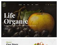 Colora - Organic Food eCommerec Bootastrap 4 Template
