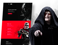 The dark side - landing page