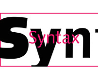Typography (syntax Font)