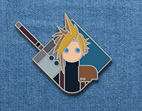 Cloud Strife enamel pin