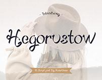 Hegorustow - Font