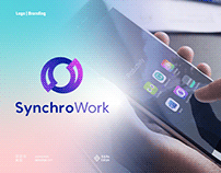 SynchroWork Logo and Branding for SAAS technology brand
