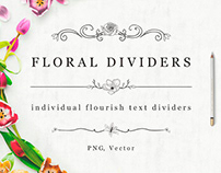 FREE Flourish Text Dividers + Florals