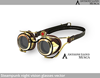 Steampunk Night Vision Glasses VECTOR