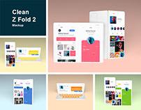 Clean Z Fold 2 Mockup