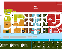 Touchscreen interactive mall map