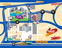 AMPTHEATER INFO MAP DUBAI